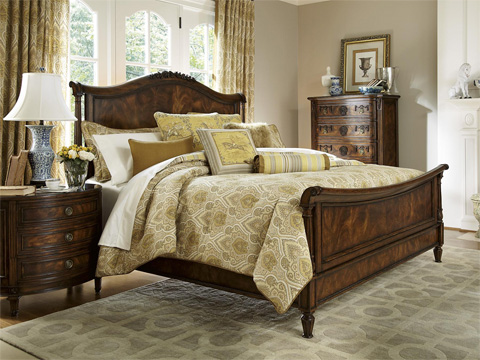 Fine Furniture Design - Panel Sleigh King Bed - 1340-367/368/369