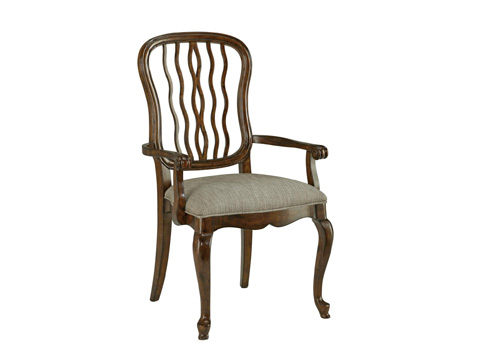 Fine Furniture Design - Carved Back Dining Arm Chair - 1344-821
