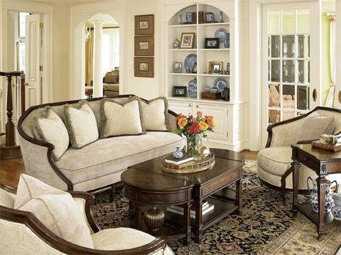 Fine Furniture Design & Marketing - Vanderbilt Sofa - 3907-01DC-1340-V27BF