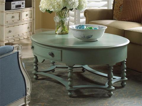Fine Furniture Design - Oval Cocktail Table - 1053-932