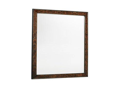 Image of Wood and Metal Landscape Mirror
