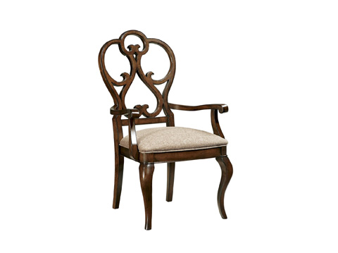 Fine Furniture Design - Scroll Dining Arm Chair - 1370-825