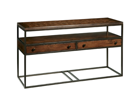 Fine Furniture Design - Rectangular Metal and Wood Console Table - 1370-944