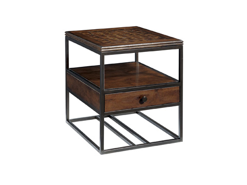 Fine Furniture Design - Metal and Wood End Table - 1370-970
