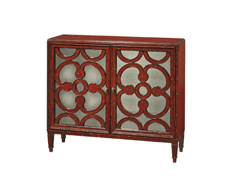 Image of Antique Glass Screen Legend Hall Chest