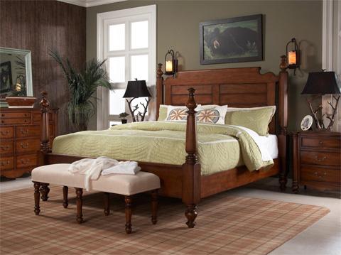 Fine Furniture Design - Poster King Bed - 1050-767/768/769