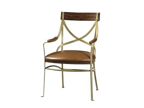 Fine Furniture Design - Starboard Metal Dining Arm Chair - 1433-826
