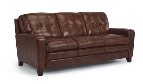 Image of South Street Brown Leather Sofa