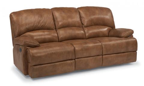 Image of Three Seat Power Motion Leather Sofa