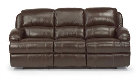 Flexsteel - Power Reclining Leather Sofa - 1242-62P