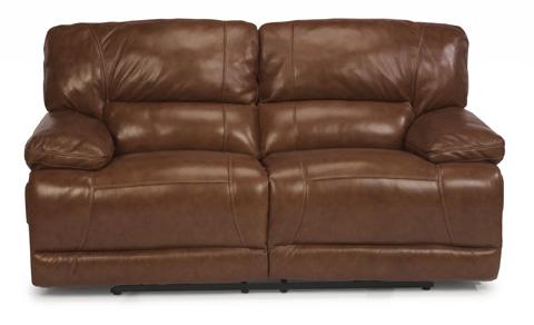 Flexsteel - Power Reclining Leather Loveseat - 1237-60P