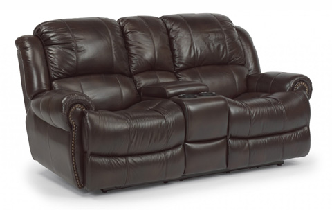 Flexsteel - Power Leather Loveseat with Console - 1311-604P