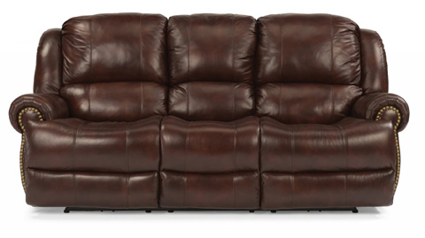 Image of Power Reclining Leather Sofa
