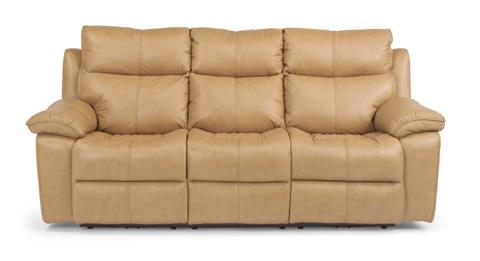 Flexsteel - Power Reclining Leather Sofa - 1320-62P