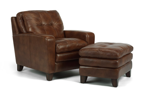 Flexsteel - South Street Chair and Ottoman - 1644-08/10
