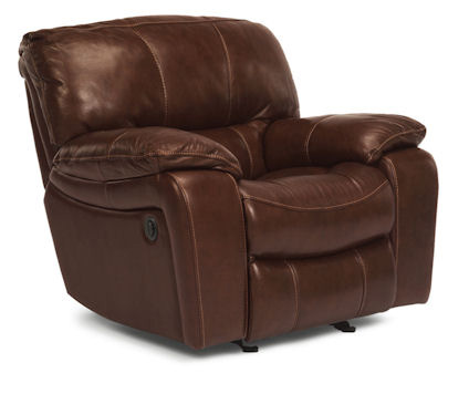 Image of Grandview Brown Leather Power Recliner