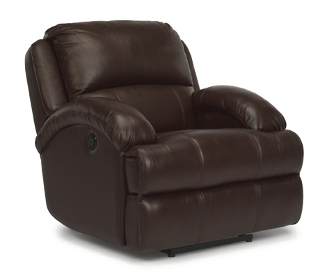 Image of Fast Lane Leather Power Recliner