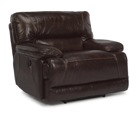 Flexsteel - Fleet Street Dark Brown Leather Power Recliner - 1237-50P