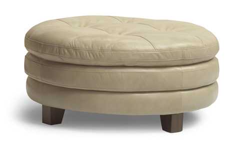 Flexsteel - South Street Round Cocktail Ottoman - 1644-094
