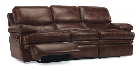 Flexsteel - Dylan Leather Double Reclining Sofa - 1127-62
