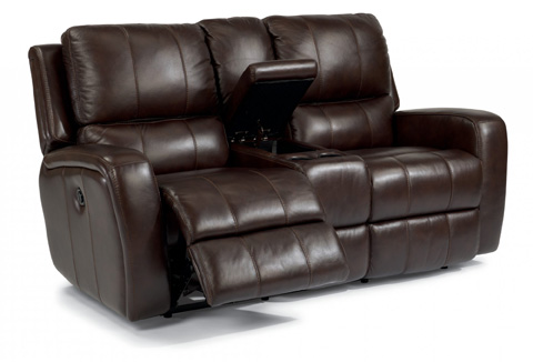 Image of Hammond Leather Power Reclining Loveseat