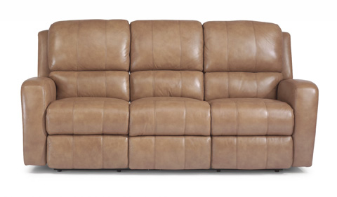 Image of Hammond Leather Power Reclining Sofa