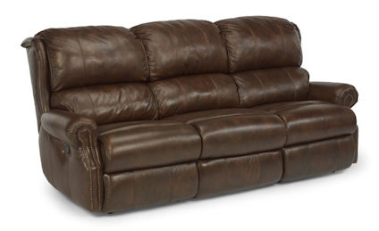 Flexsteel - Comfort Zone Leather Double Reclining Sofa - 1227-62