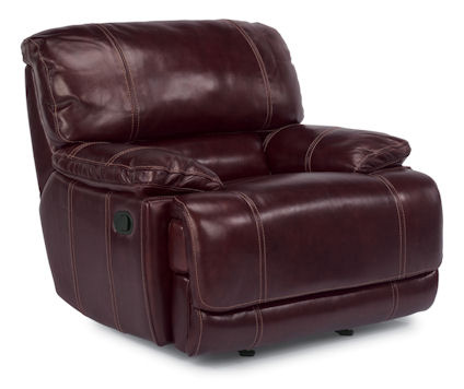 Image of Belmont Leather Glider Recliner