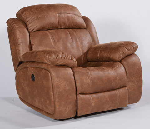 Image of Como NuvoLeather Glider Recliner