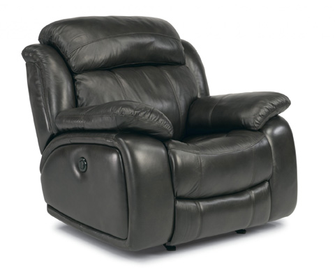 Image of Como Leather Power Glider Recliner