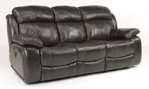 Image of Como Leather Power Reclining Sofa
