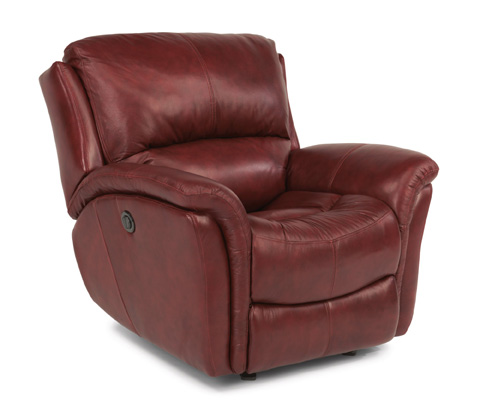 Image of Dominique Leather Power Glider Recliner