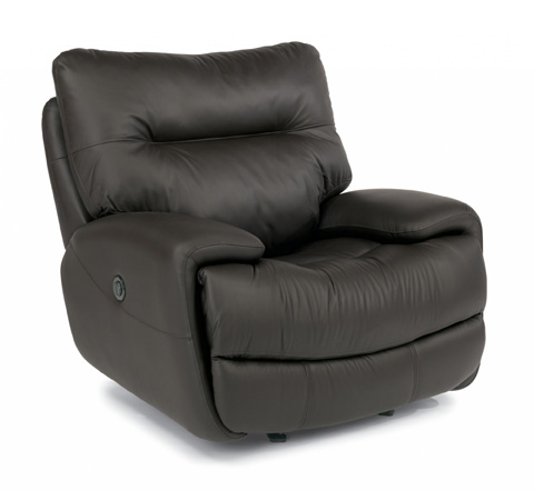 Image of Evian Leather Power Glider Recliner
