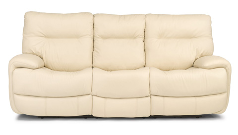 Image of Evian Leather Power Reclining Sofa