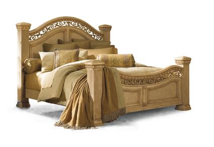 Flexsteel - Cordoba Anitguo Blanco Queen Mansion Bed - W1636-94Q