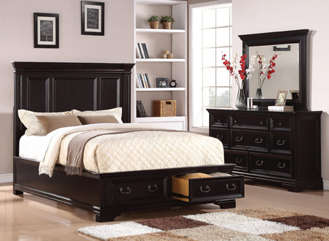 Flexsteel - Camberly Queen Panel Bed with Storage - W1909-90QS