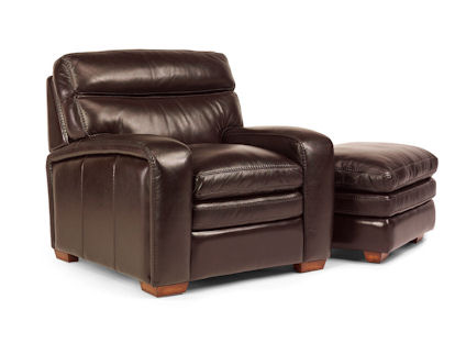 Flexsteel - Bixby Leather Chair and Ottoman - 1129-08/1129-10