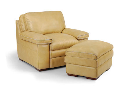 Flexsteel - Penthouse Leather Chair and Ottoman - 1774-08/1774-10