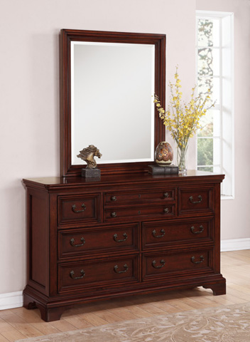 Flexsteel - Downton Dresser with Rectangular Mirror - W1904-860/W1904-880