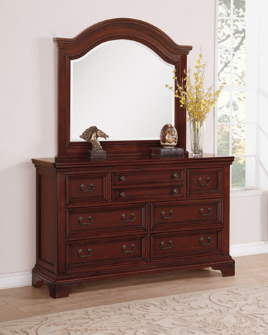 Flexsteel - Downton Dresser with Arched Mirror - W1904-860/W1904-881