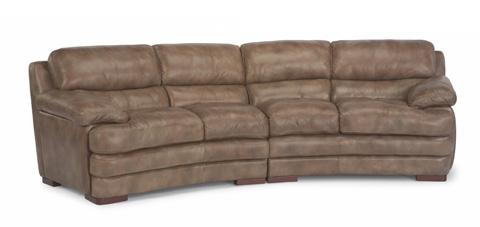 Flexsteel - Leather Conversation Sofa without Nailhead Trim - 1127-325