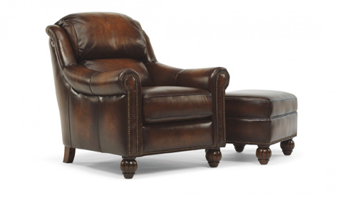 Flexsteel - Leather Chair and Ottoman - 1139-CO