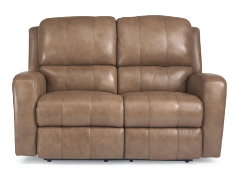 Flexsteel - Leather Power Reclining Loveseat - 1157-60P
