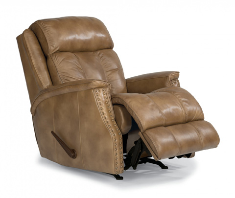 Image of Leather Rocking Recliner