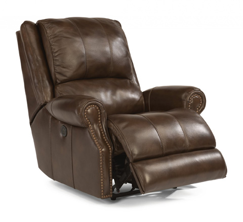 Image of Leather Power Recliner
