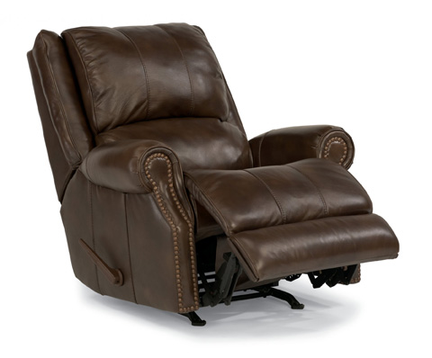 Flexsteel - Leather Rocking Recliner - 1252-510