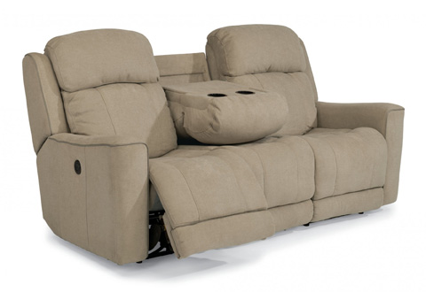 Image of Fabric Power Reclining Sofa
