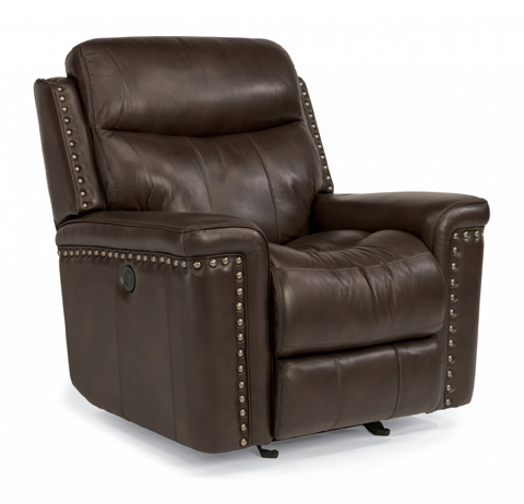 Image of Leather Power Gliding Recliner