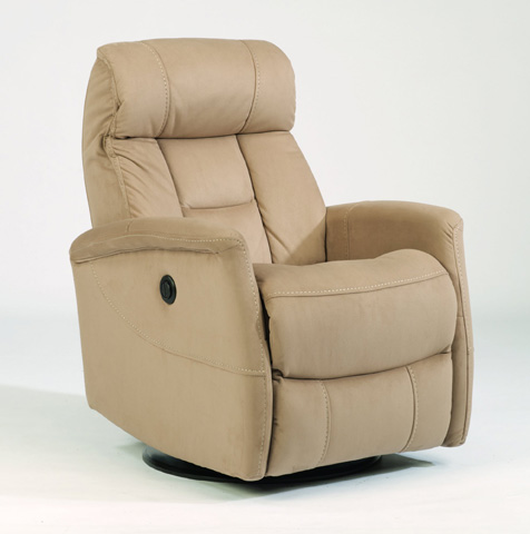 Image of King Fabric Power Swivel Gliding Recliner