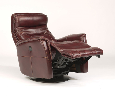 Image of King Leather Power Swivel Gliding Recliner